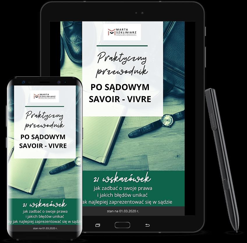 E-book Praktyczny przewodnik po sądowym savoir-vivre Adwokat Sosnowiec Marta Szkliniarz